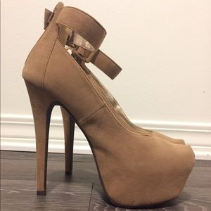Tan Platform High Heels